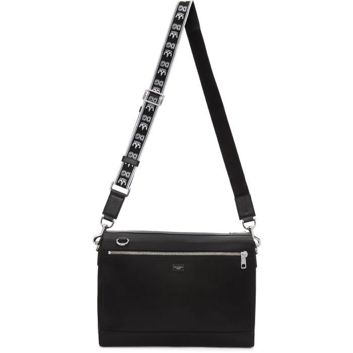 Photo: Dolce and Gabbana Black Messenger Bag