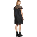 Sacai Black Mesh Panel Dress