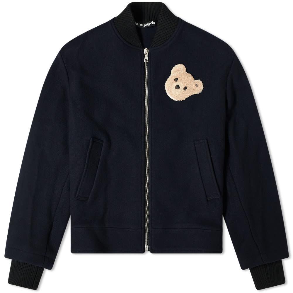 Photo: Palm Angels Bear Back Logo Bomber Jacket