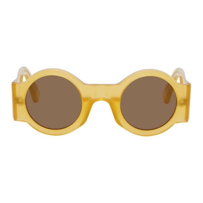 Photo: Dries Van Noten Yellow Linda Farrow Edition 98 C11 Sunglasses