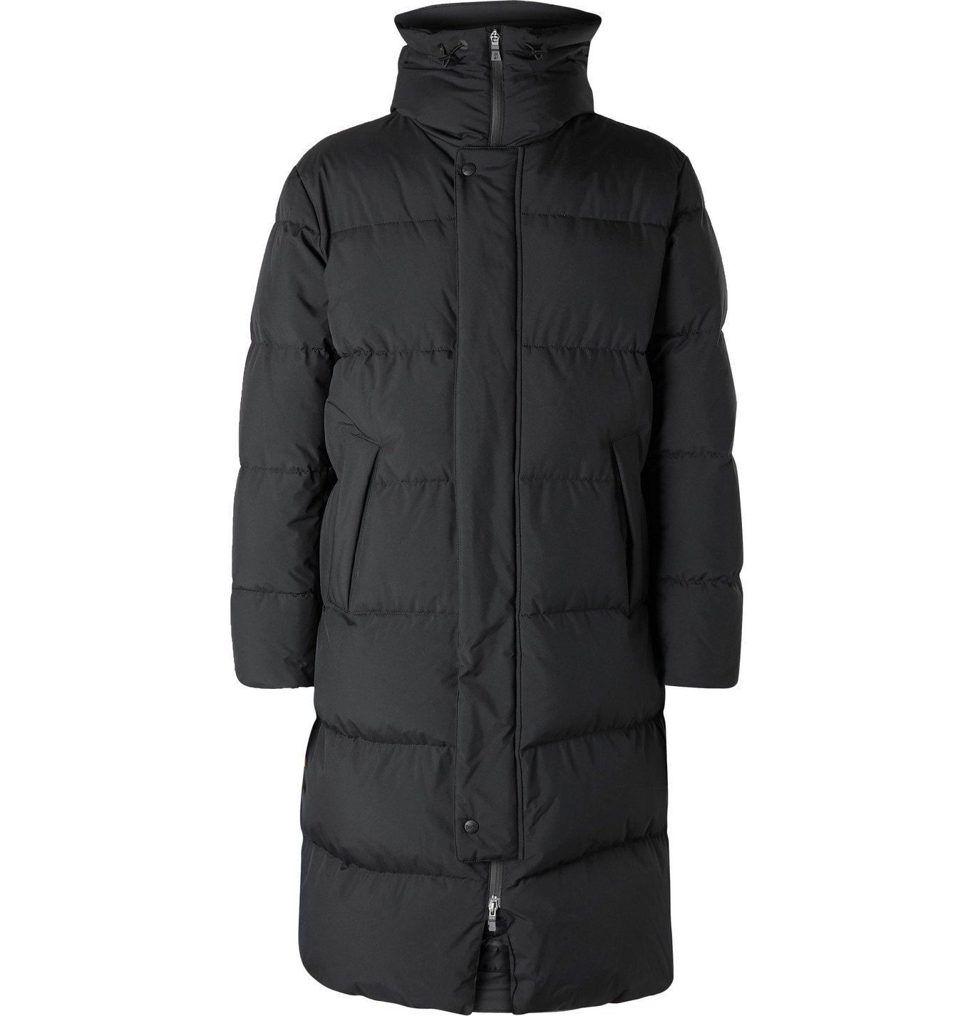 Photo: Herno Laminar - Windstopper Quilted GORE-TEX Hooded Down Parka - Black