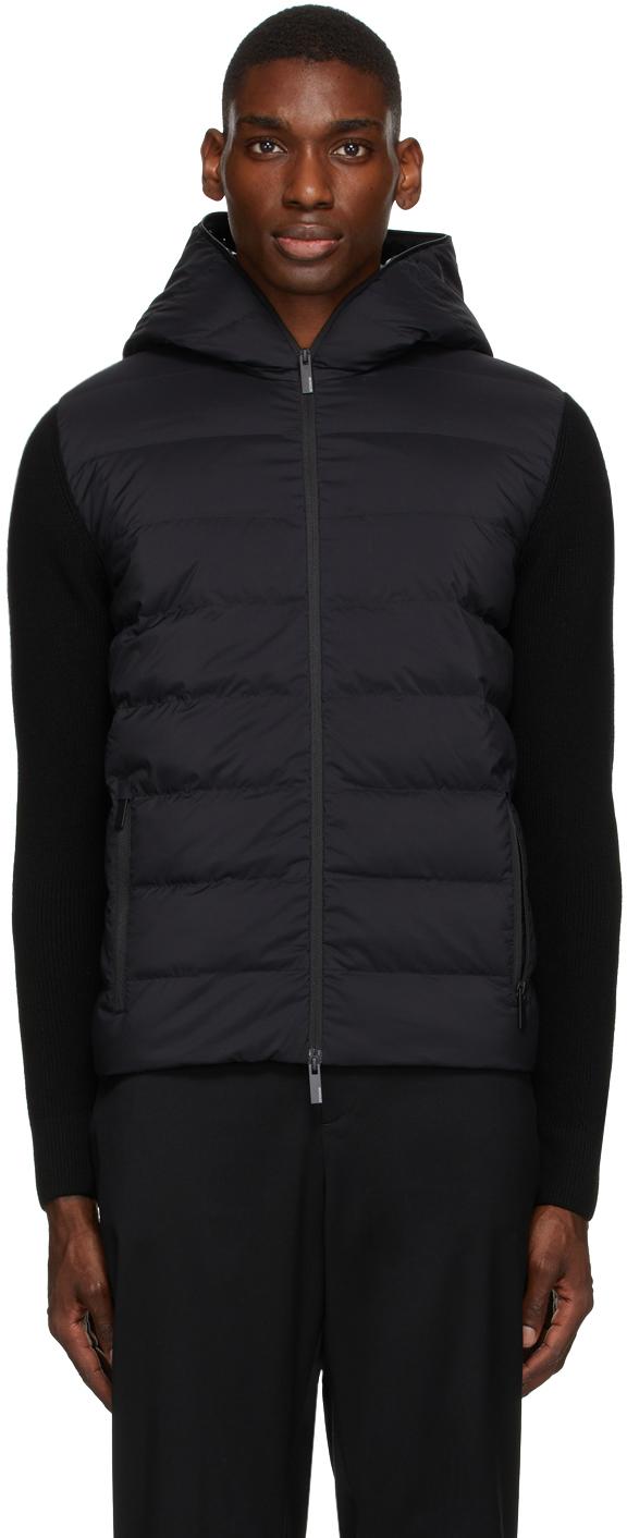 Photo: Moncler Black Wool & Down Jacket
