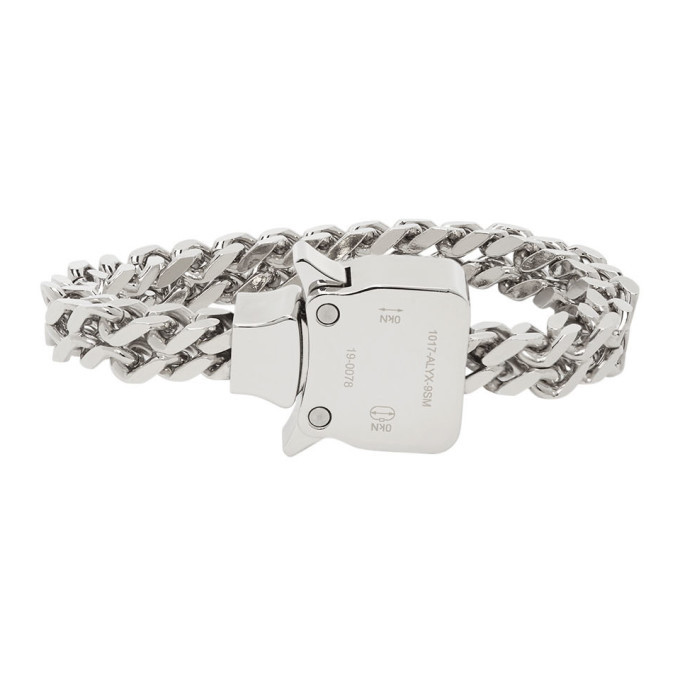 Photo: 1017 ALYX 9SM Silver Cubix Mini Bracelet