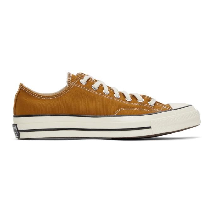 Photo: Converse Tan Chuck 70 OX Sneakers
