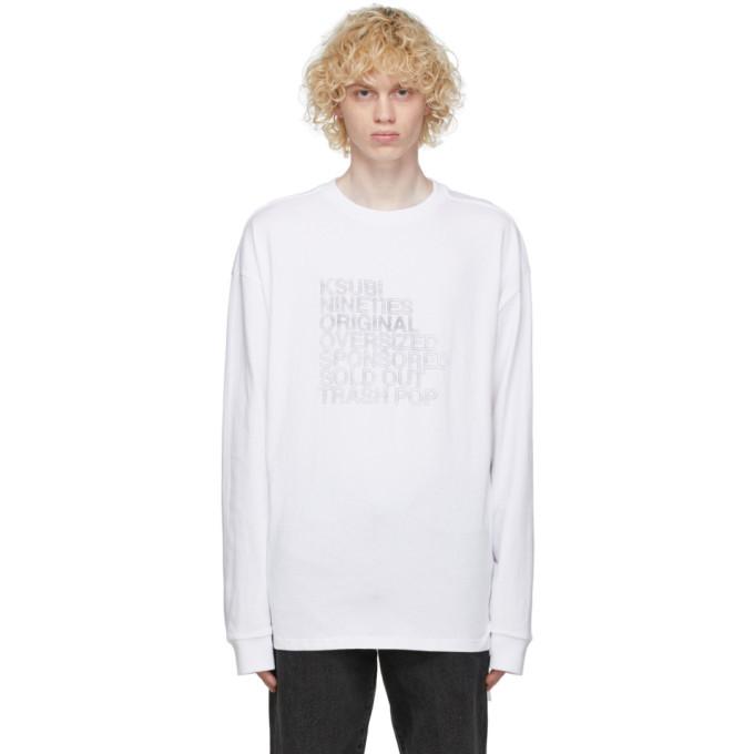 Ksubi White Kaliber Long Sleeve T-Shirt