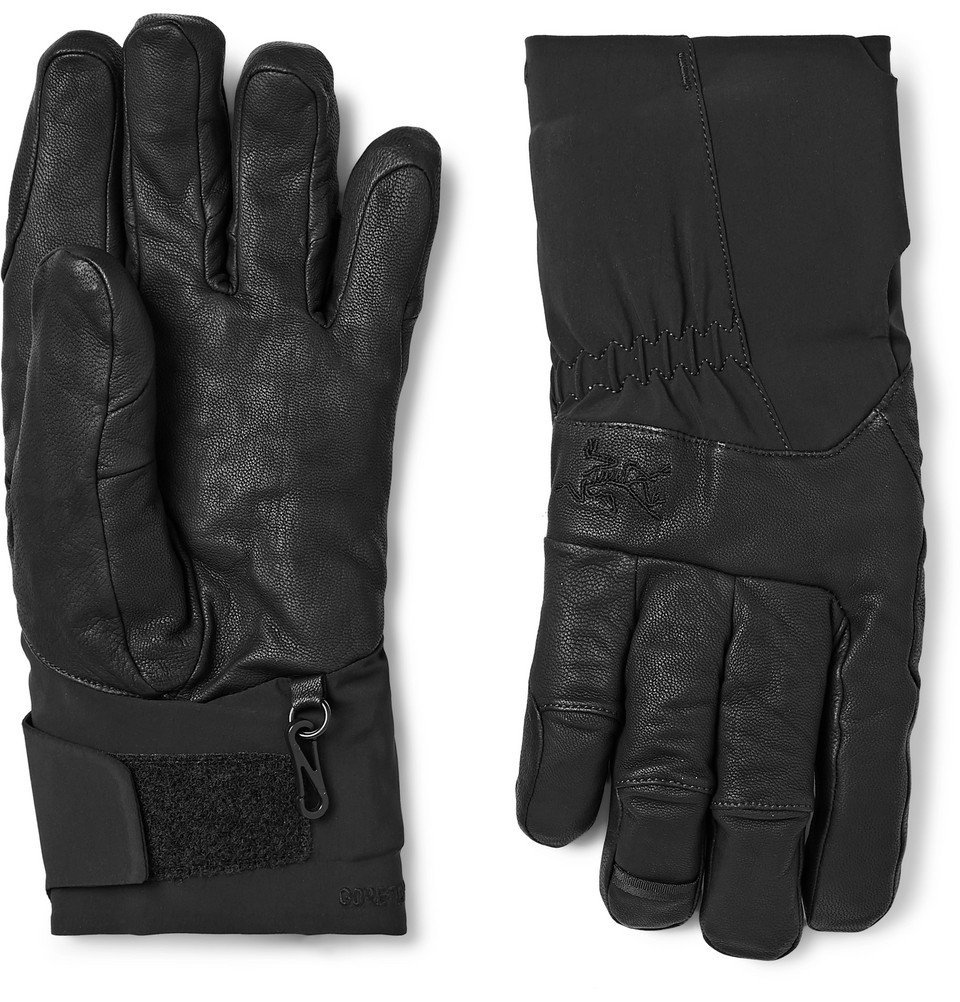 Photo: Arc'teryx - Anertia Leather and GORE-TEX Gloves - Men - Black