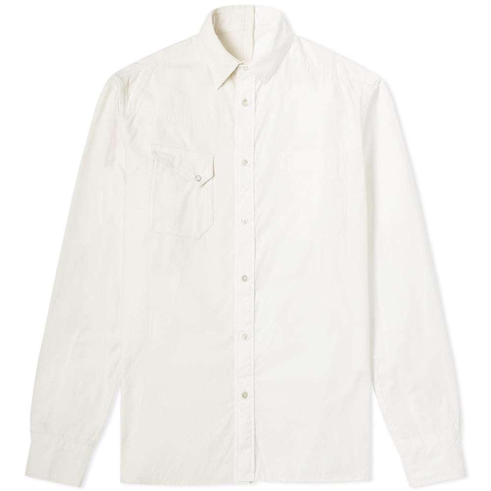 Photo: Sacai Contrast Panel Oxford Shirt