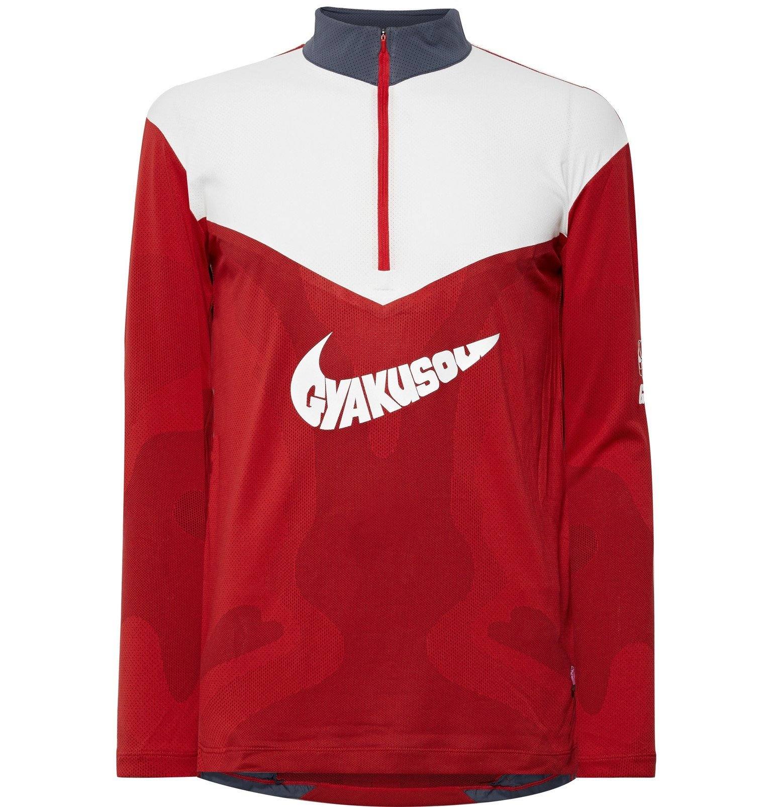 Photo: Nike x Undercover - NRG Printed Dri-FIT Mesh Half-Zip Top - Red
