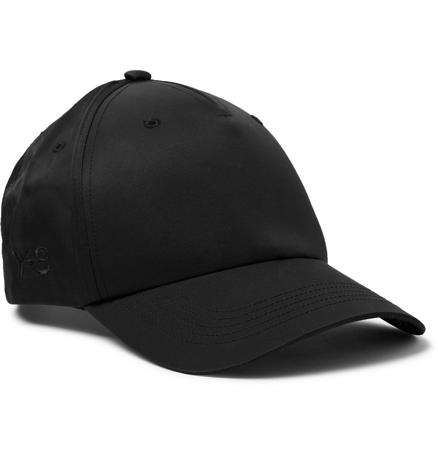 Y-3 - Logo-Embroidered Nylon and Cotton-Blend Twill Baseball Cap - Black