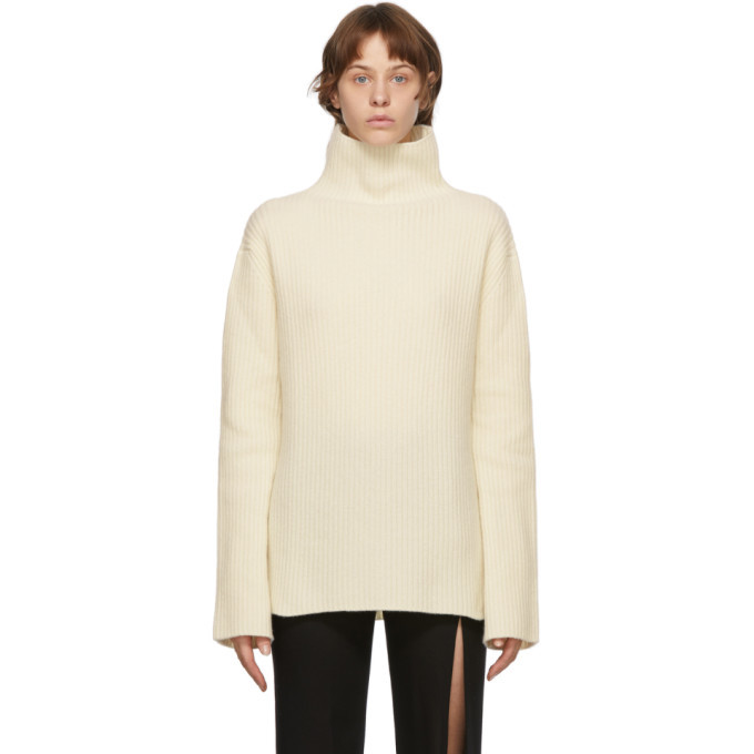 Photo: Ann Demeulemeester Off-White Virgin Wool Turtleneck