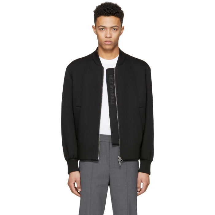 Photo: Neil Barrett Black Sweatshirt Bomber Jacket