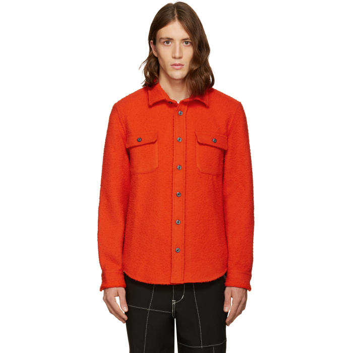 Photo: Noah NYC Red Wool Teddy Shirt