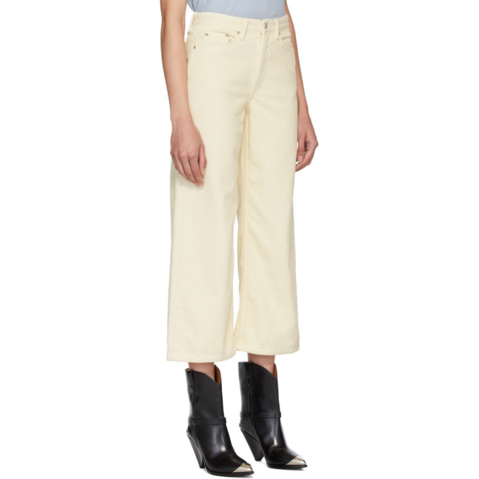 Won Hundred White Corduroy Kiri Trousers