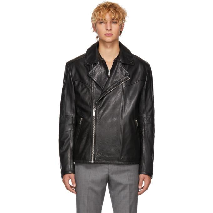Photo: Hugo Black Leather Lanster Jacket