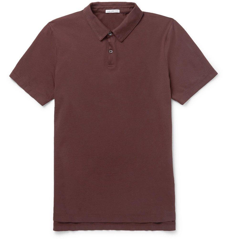 Photo: James Perse - Supima Cotton-Jersey Polo Shirt - Plum