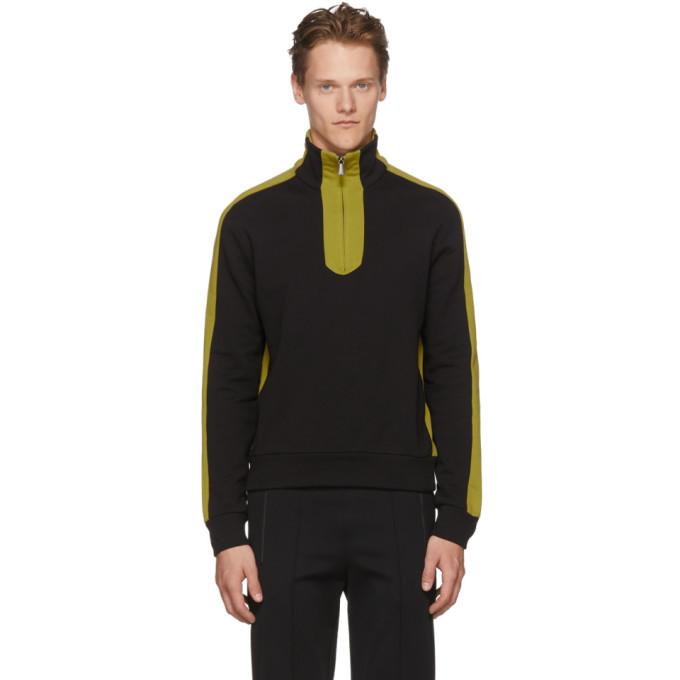 Photo: Bottega Veneta Black and Yellow Colorblock Zip-Up Sweater