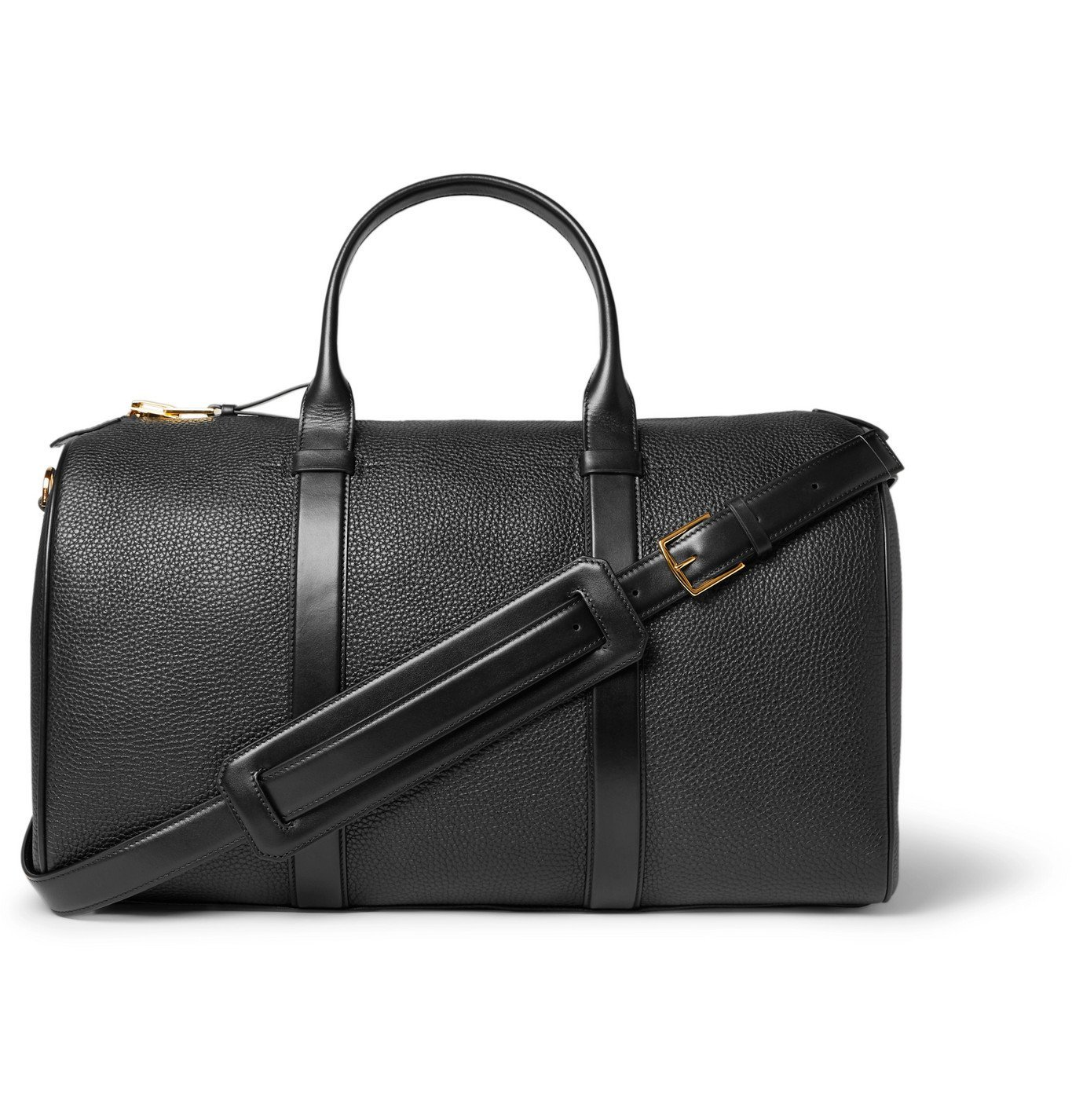 Photo: TOM FORD - Buckley Pebble-Grain Leather Holdall - Black