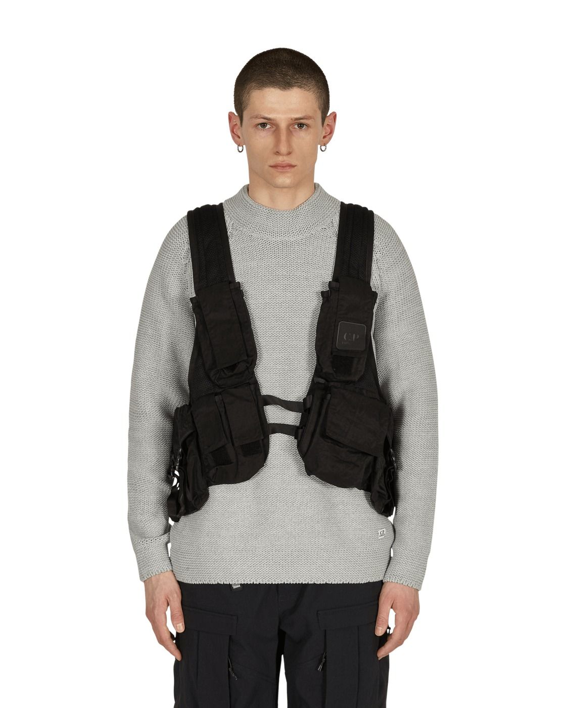 Photo: C.P. Company Backpack Utility Vest Black
