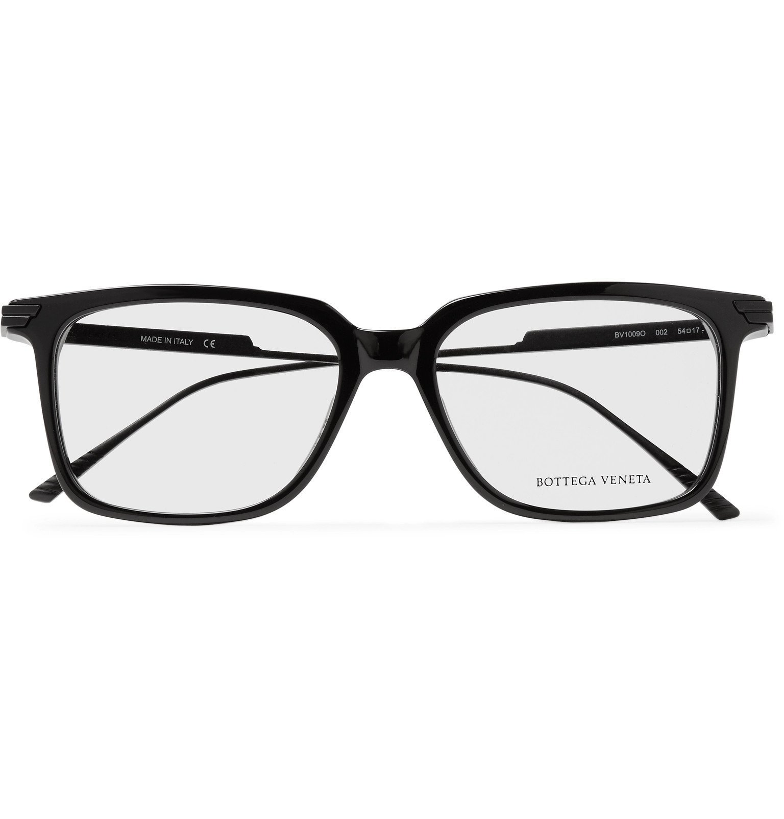 Bottega Veneta - Square-Frame Acetate and Metal Sunglasses - Black