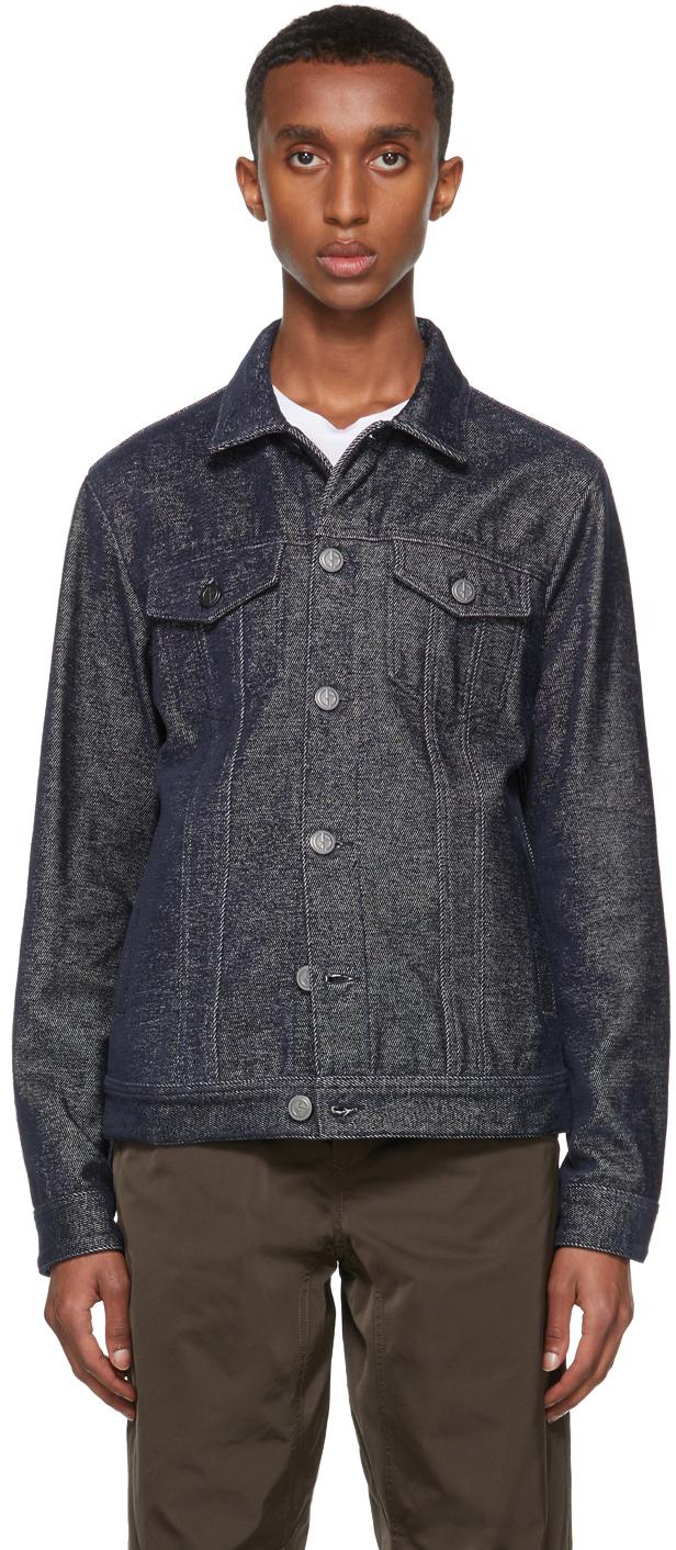 Photo: Giorgio Armani Navy Cotton-Denim Blouson Jacket