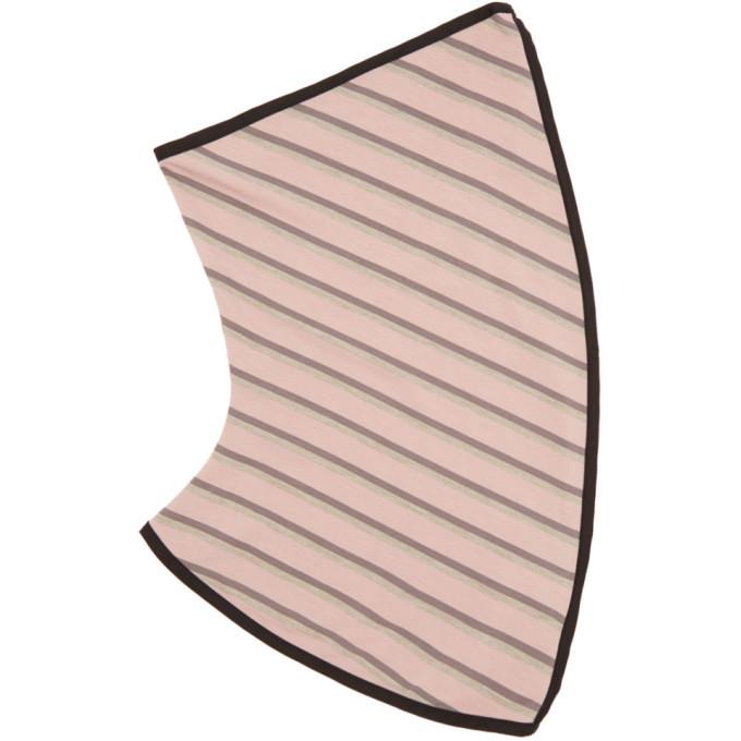 Photo: Kiko Kostadinov Pink Striped Spiral Gaiter Scarf