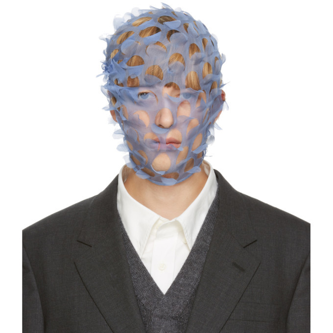 Photo: Maison Margiela Blue Silk Defile Face Veil