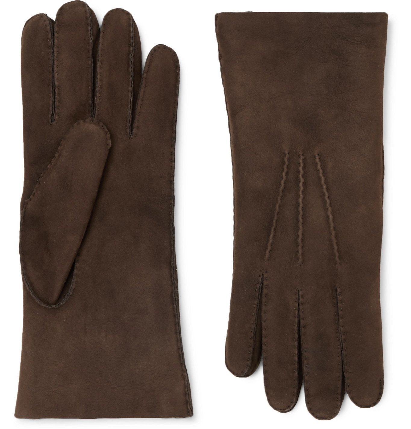 Photo: Loro Piana - Shearling Gloves - Brown