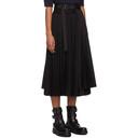 Sacai Black Two Panel Pleated Wrap Skirt