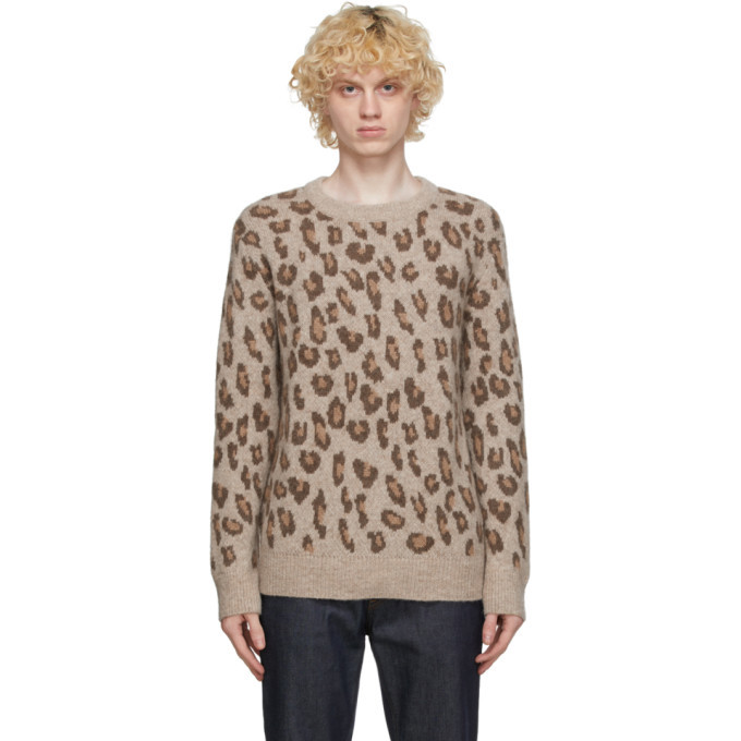 Photo: A.P.C. Brown Leopard Esther Sweater