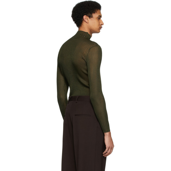 Dion Lee Khaki Corrugated Turtleneck