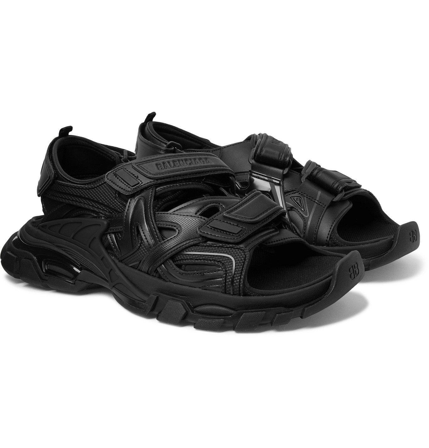 Photo: Balenciaga - Track Neoprene and Rubber Sandals - Black