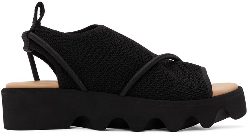 Photo: Issey Miyake Black United Nude Edition Bind Sandals