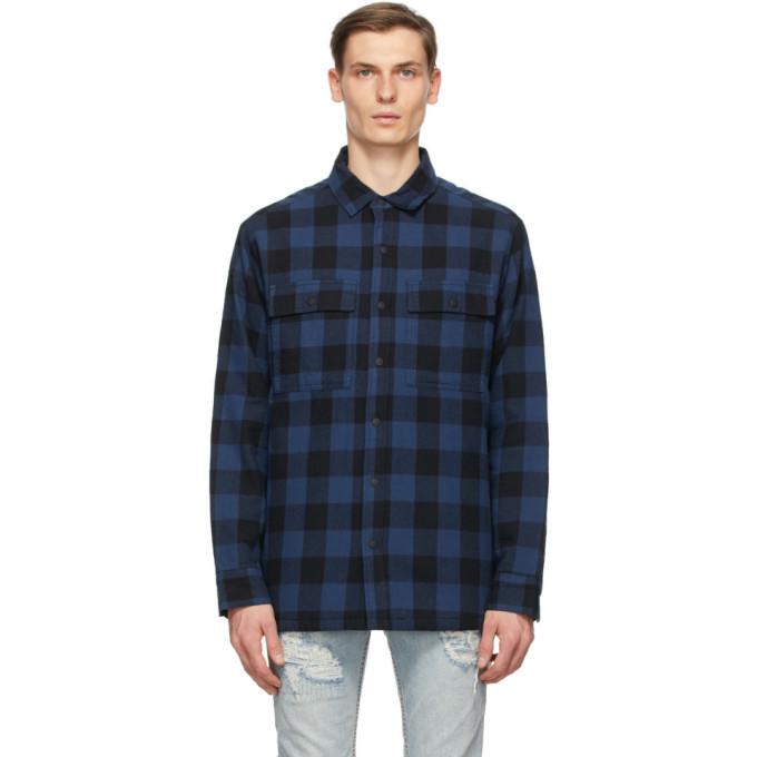 Ksubi Blue and Black Check Shirt