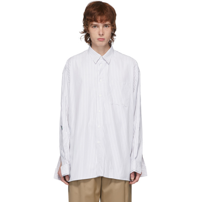 Photo: ADER error White Stripe Oversized Shirt