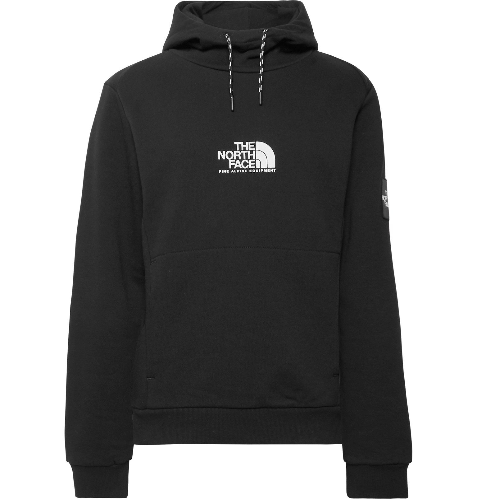 Photo: The North Face - Logo-Print Fleece-Back Cotton-Jersey Hoodie - Black