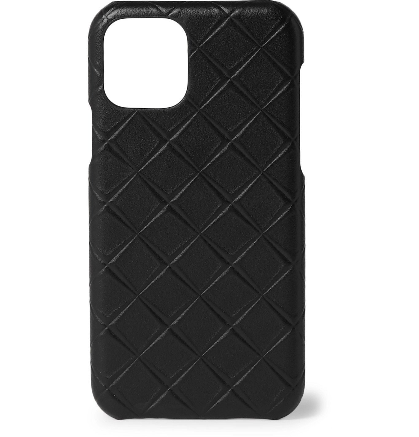 Photo: Bottega Veneta - Intrecciato-Embossed Leather iPhone 11 Case - Black