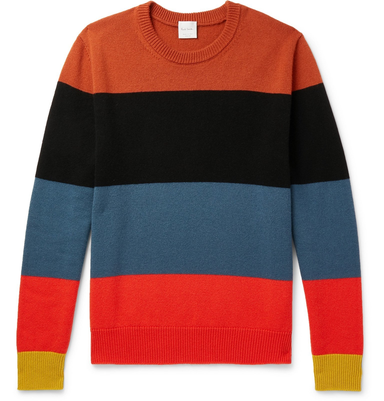Photo: Paul Smith - Slim-Fit Striped Cashmere Sweater - Multi