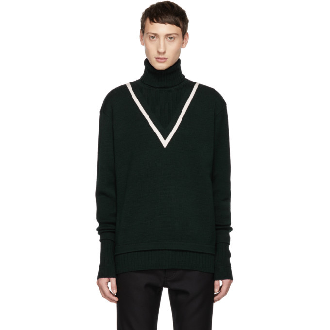 Photo: Givenchy Green Fake Double Layer Turtleneck
