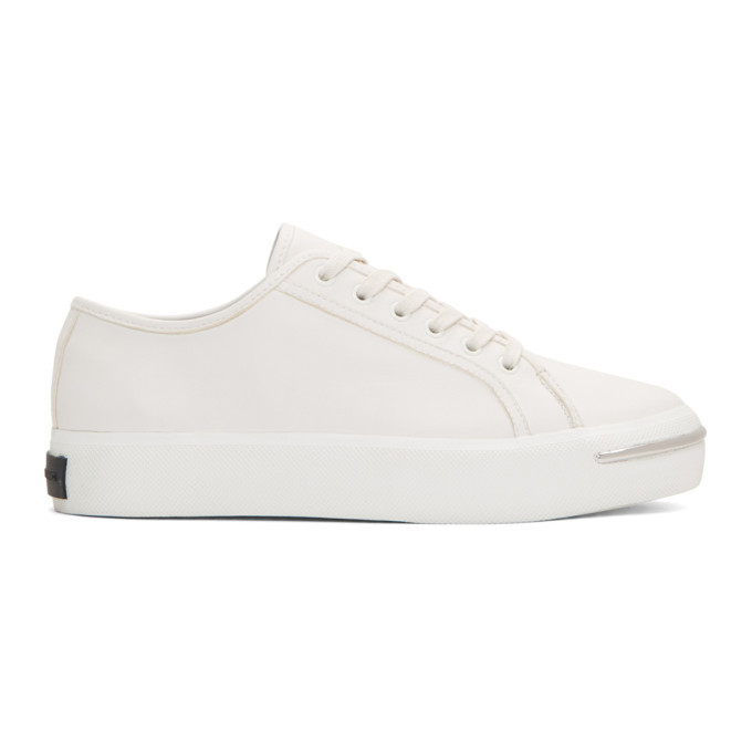 Alexander Wang White Pia Low Sneakers