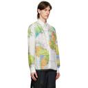 Sacai White and Multicolor World Map Shirt