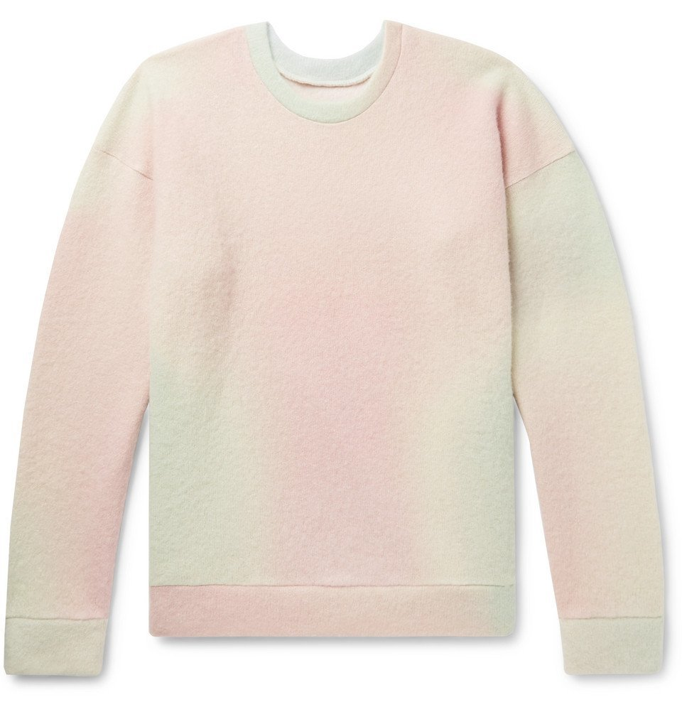 Photo: The Elder Statesman - Tie-Dyed Cashmere-Blend Sweater - Pink