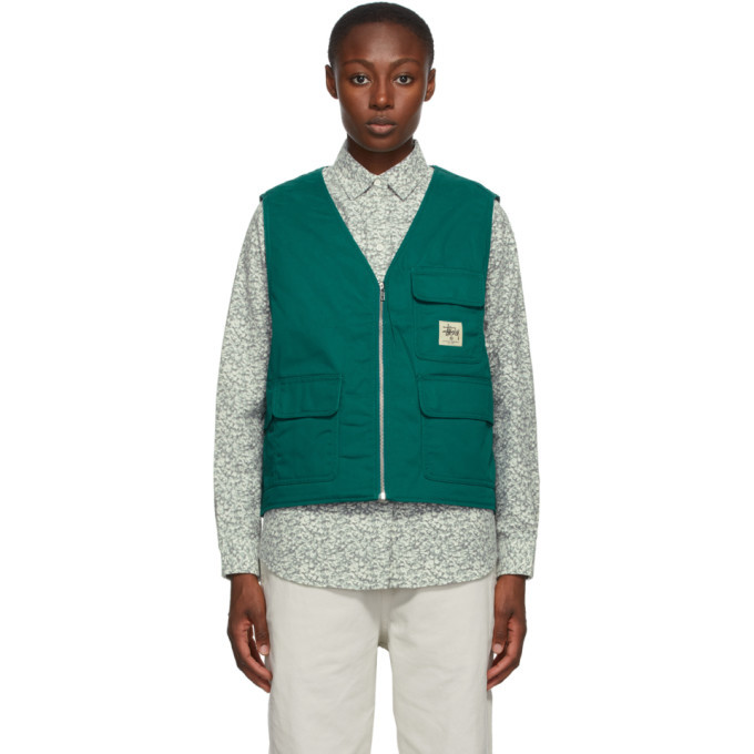 Photo: Stussy Green Insulated Work Vest