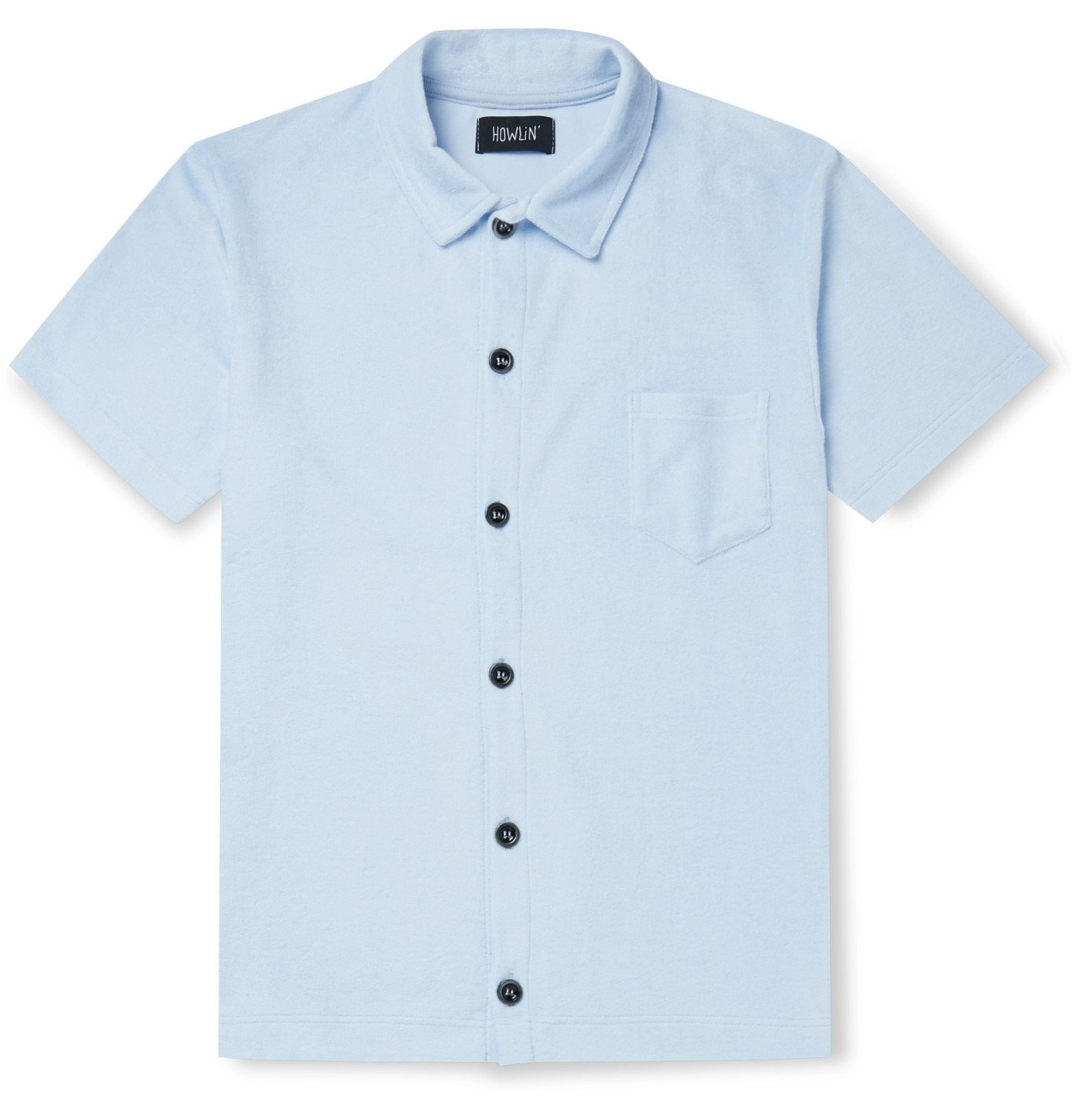 Photo: Howlin' - Light Flight Slim-Fit Cotton-Blend Terry Polo Shirt - Blue
