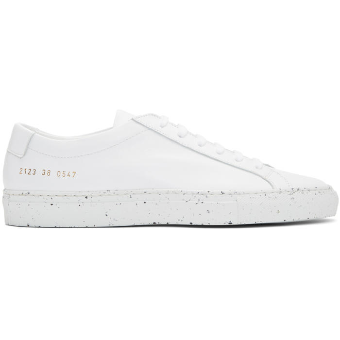 Common Projects White Achilles Low Confetti Sole Sneakers