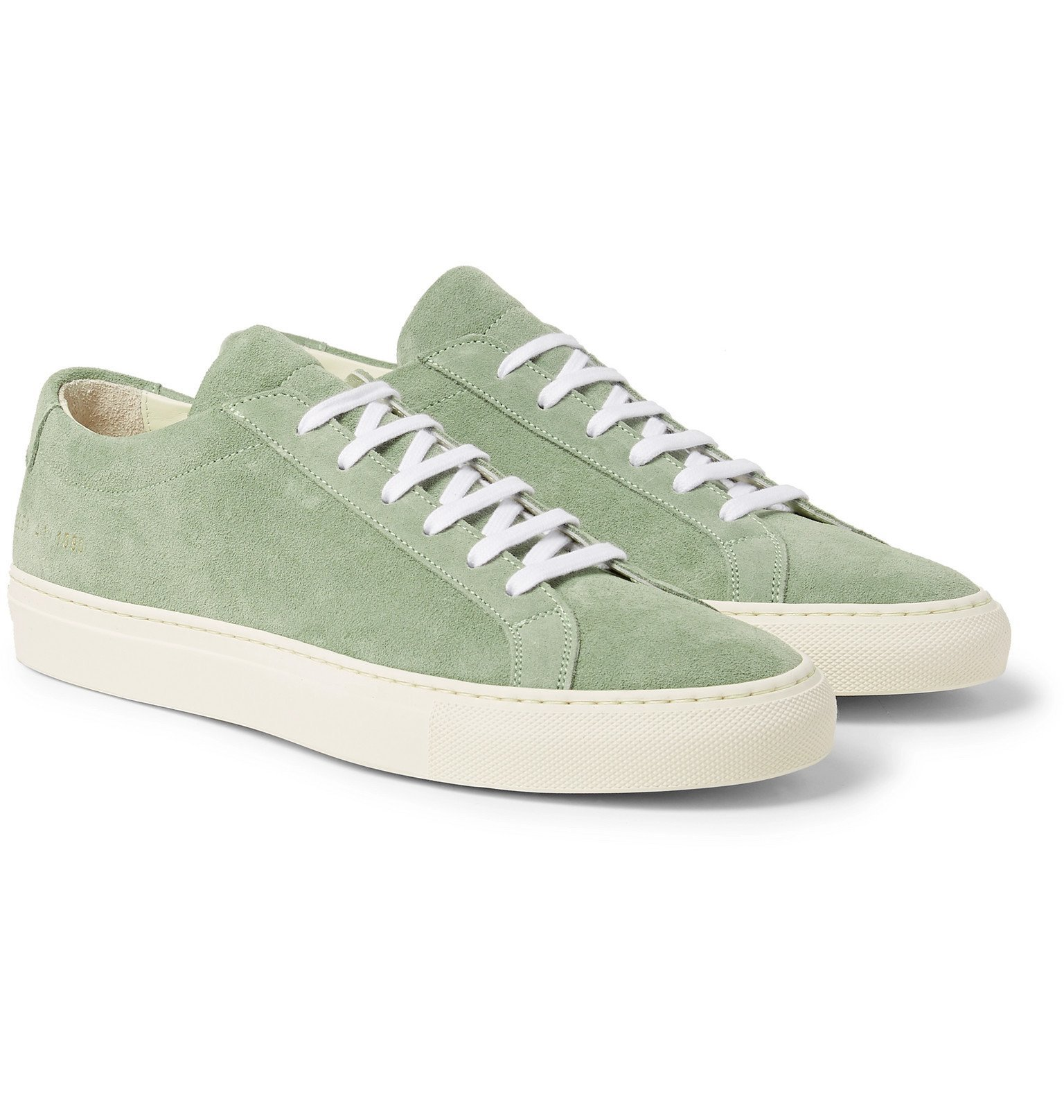 Common Projects - Original Achilles Suede Sneakers - Green