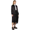 Comme des Garcons Homme Plus Black Cupro Logo Bomber Coat