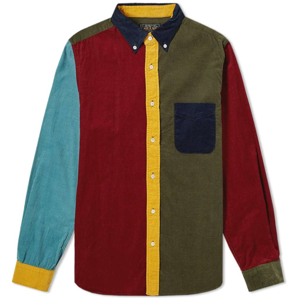 Photo: Beams Plus Button Down Crazy Cord Shirt Dark