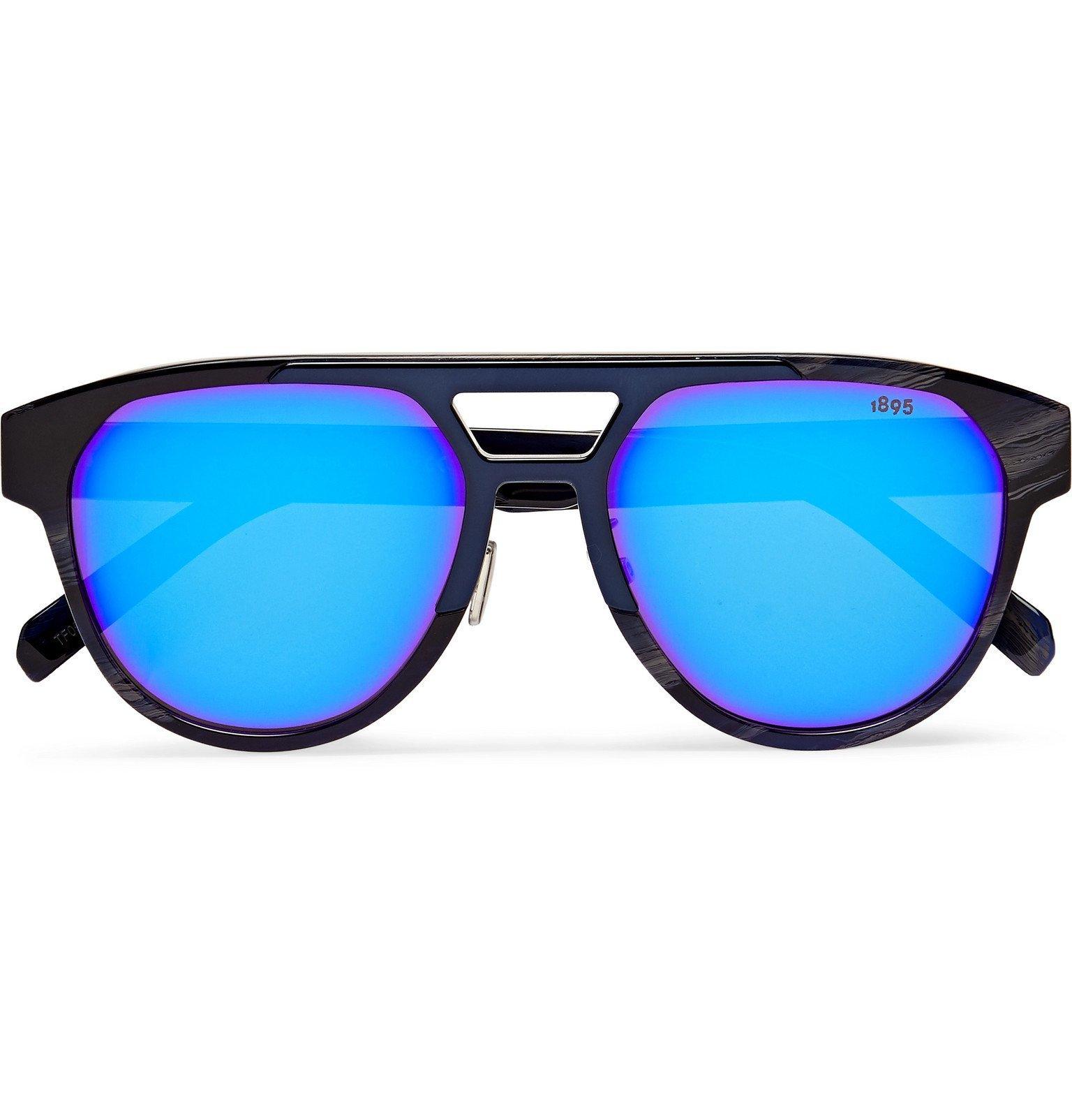 Photo: Berluti - Aviator-Style Tortoiseshell Acetate Sunglasses - Black