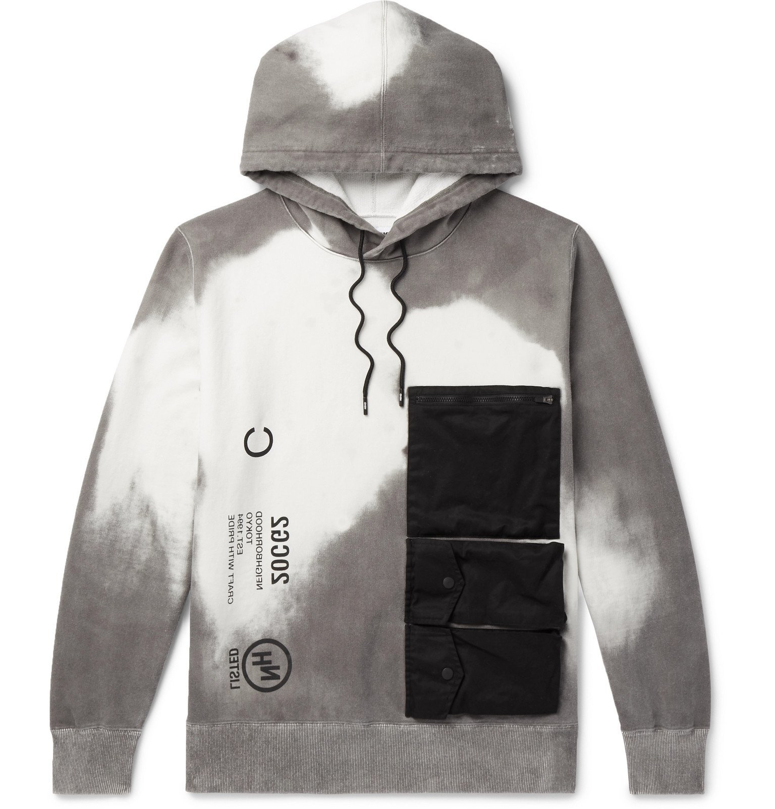 Photo: Neighborhood - Thermo Printed Loopback Cotton-Jersey Hoodie - Gray