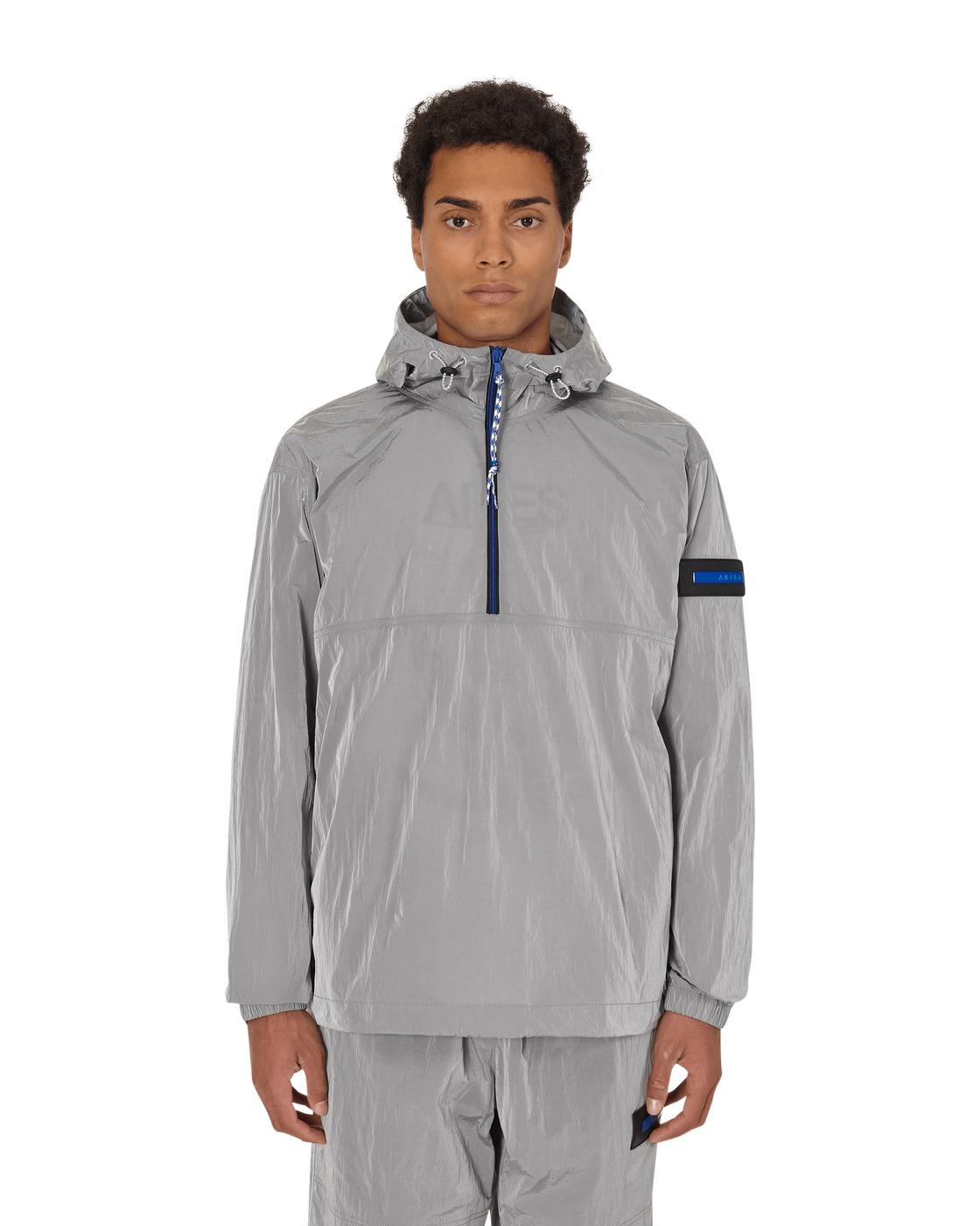 Aries Windbreaker Half Zip Jacket Grey